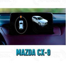 Штатная интеллектуальная 3D система кругового обзора автомобиля сПАРК-BDV-360-R для Mazda CX-9, с функцией видеорегистратора