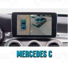 Штатная интеллектуальная 3D система кругового обзора автомобиля сПАРК-BDV-360-R для Mercedes-Benz C class, с функцией видеорегистратора