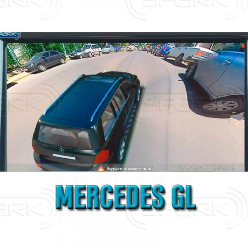 Система кругового обзора автомобиля сПАРК-BDV-360-R для Mercedes-Benz ML / GL, с функцией видеорегистратора
