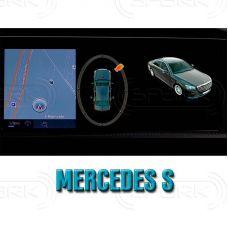 Штатная интеллектуальная 3D система кругового обзора автомобиля сПАРК-BDV-360-R для Mercedes-Benz S-Class, с функцией видеорегистратора
