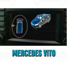 Штатная интеллектуальная 3D система кругового обзора автомобиля сПАРК-BDV-360-R для Mercedes-Benz Vito, с функцией видеорегистратора