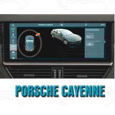 Штатная интеллектуальная 3D система кругового обзора автомобиля сПАРК-BDV-360-R для Porsche Cayenne, с функцией видеорегистратора