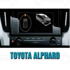Штатная интеллектуальная 3D система кругового обзора автомобиля сПАРК-BDV-360-R для Toyota Alphard, с функцией видеорегистратора
