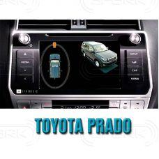 Штатная интеллектуальная 3D система кругового обзора автомобиля сПАРК-BDV-360-R для Toyota Prado, с функцией видеорегистратора