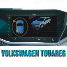 Штатная интеллектуальная 3D система кругового обзора автомобиля сПАРК-BDV-360-R для Volkswagen Touareg, с функцией видеорегистратора